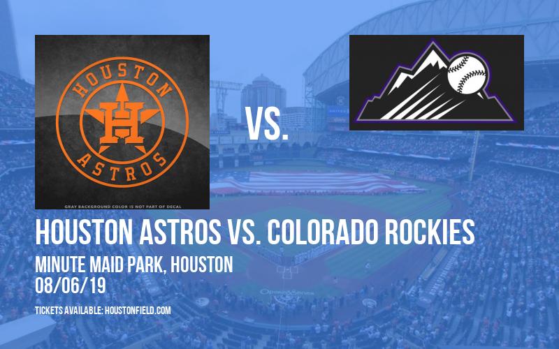 Houston Astros vs. Colorado Rockies at Minute Maid Park