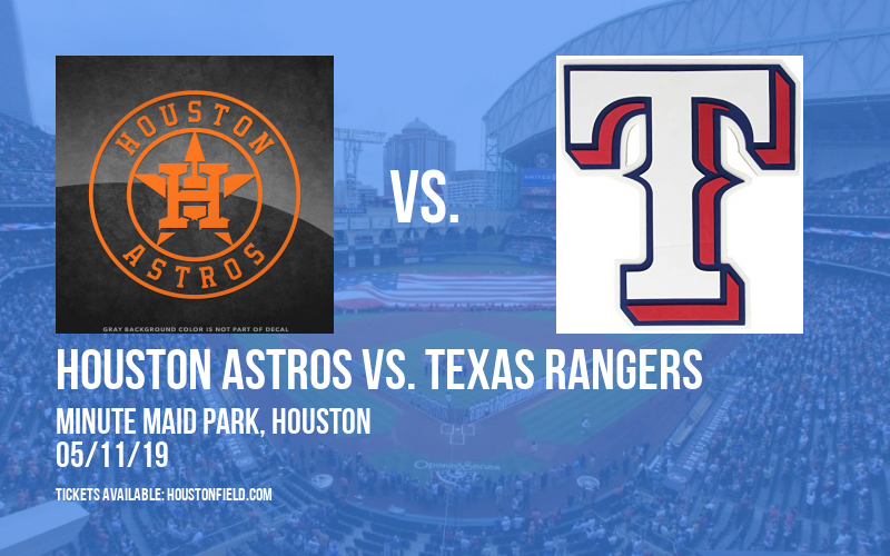 Houston Astros vs. Texas Rangers at Minute Maid Park